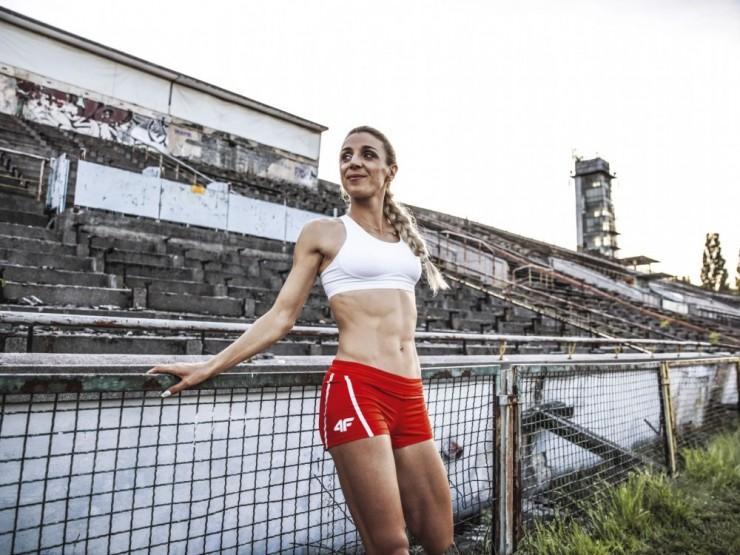 """""""Jeszcze nie zdobyłam medalu mistrzostw świata """"- mówi Angelika. - """"Jeszcze..."""" (fot.Aleksandra Szmigiel)."""
