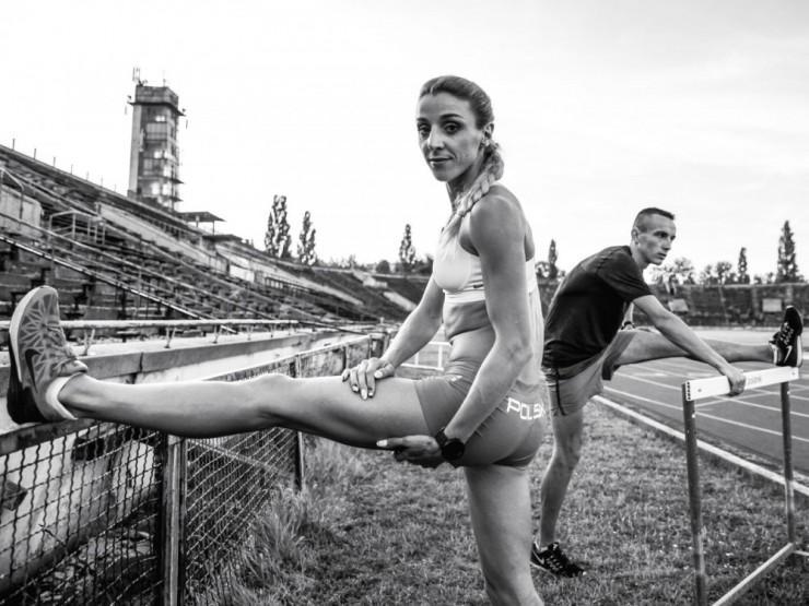 Angelika na treningu (fot.Aleksandra Szmigiel).